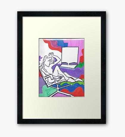 Love your Laptop Framed Print