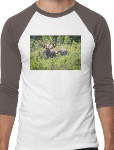 Smiling Bull Moose Men's Baseball ¾ T-Shirt