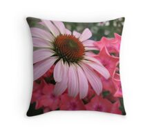 Floral scene Throw Pillow