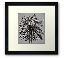 Ink Flower 02 Framed Print