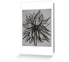 Ink Flower 02 Greeting Card