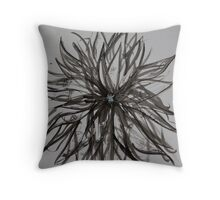 Ink Flower 02 Throw Pillow