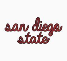 San Diego State Tie Dye by katiefarello
