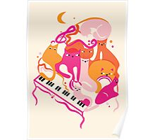Jazz Cats Poster