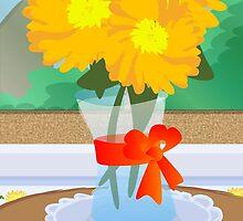 Flowers by a Window by elledeegee