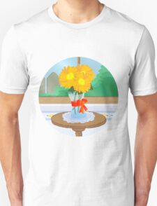 Flowers by a Window Unisex T-Shirt