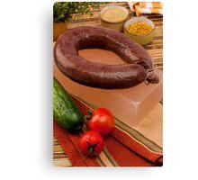 Blood sausage Canvas Print