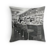Court Square Diner Throw Pillow