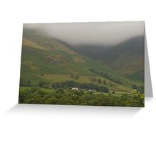 Misty Mountains Lake District  Greeting Card