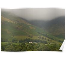 Misty Mountains Lake District  Poster