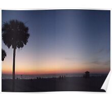 Beach Summer  Sunset Poster