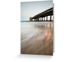 Boscombe Pier Greeting Card