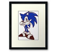 Minimalist Modern Sonic Framed Print