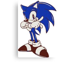 Minimalist Modern Sonic Canvas Print