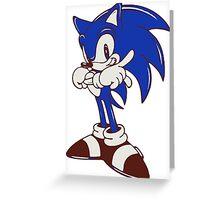 Minimalist Modern Sonic Greeting Card