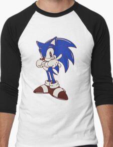 Minimalist Modern Sonic Men's Baseball ¾ T-Shirt