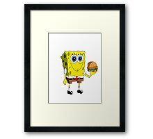 Sponge Bob - Krabby Patty Framed Print