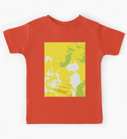 Fresh Yellow Abstract Background Kids Tee