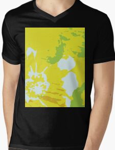 Fresh Yellow Abstract Background Mens V-Neck T-Shirt
