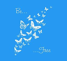 Be Free (White) by Bamalam Art and Photography
