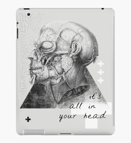 it's all in your head iPad Case/Skin