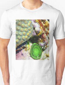Emerald Green Artichoke Anemone on Coral Reef Wall T-Shirt