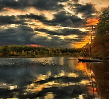 Colorful lake Waban by LudaNayvelt