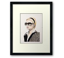 Plaster of Paris (Portrait of Paris Hilton) Framed Print