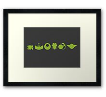 Evolution of Green Framed Print