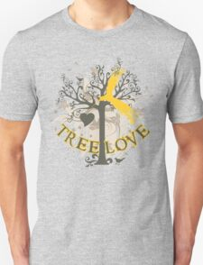 Graphic Art Tree Love Unisex T-Shirt