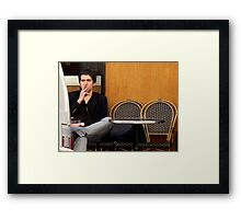 """""""I Want That Delivery On A Silver Platter...or else."""" Framed Print"""