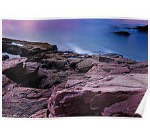 Pastel Sunrise at Thunder Hole Poster