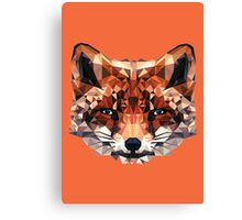 Fox Polygon Canvas Print
