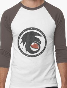 Night Fury Symbol Tee (How To Train Your Dragon Men's Baseball ¾ T-Shirt