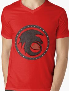 Night Fury Symbol Tee (How To Train Your Dragon Mens V-Neck T-Shirt