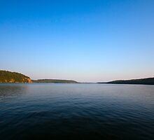 Nightfall over the lake by Josef Pittner