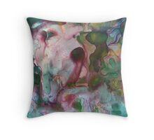Tidal turmoil of inward perception Throw Pillow