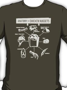 Anatomy of Chicken Nuggets Healthy Living Clean Eating Food T-Shirt