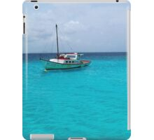 Sailing Serenity in the Azure Waters of the Caribbean iPad Case/Skin