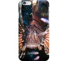 Caribbean Lion Fish guarding the Coral Reef iPhone Case/Skin