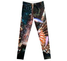 Caribbean Lion Fish guarding the Coral Reef Leggings