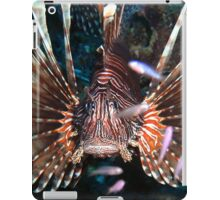 Caribbean Lion Fish guarding the Coral Reef iPad Case/Skin