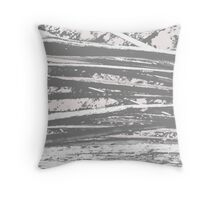 Cracking branches (charcoal)  Throw Pillow