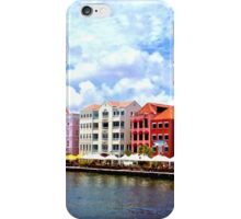 Pastel Colors of the Caribbean Coastline in Curacao iPhone Case/Skin