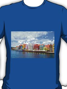 Pastel Colors of the Caribbean Coastline in Curacao T-Shirt