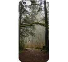 Forest Path in Vancouver's Temperate Rainforest iPhone Case/Skin