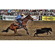 Calf Roping Event Photographic Print