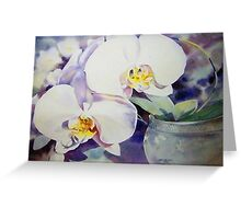 Phalaenopsis  Orchid in Celadon  Greeting Card