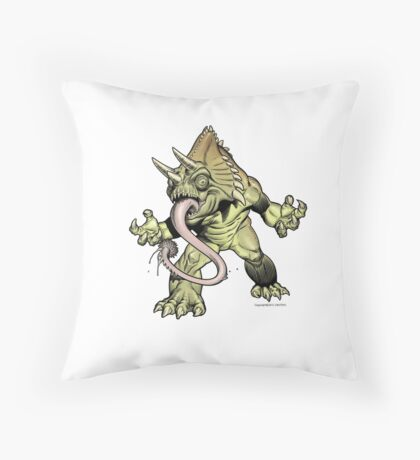 "CACTUS TUNG Monster ""Throw Pillow"" Throw Pillow"