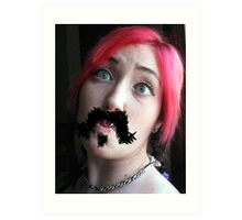 Ma'am, your 'stache bothers me...  Art Print